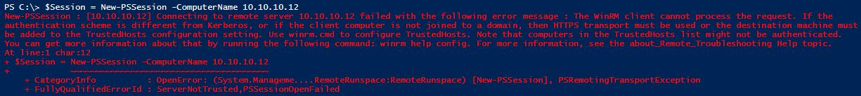 How to setup WinRM in a WorkGroup Non Domain Environment
