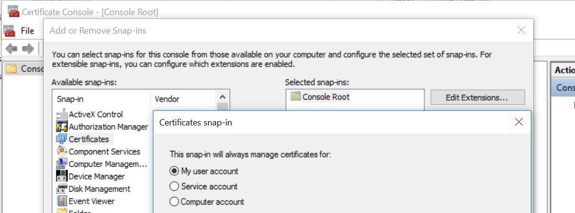 How to check for Suspicious root CA certificates in Windows